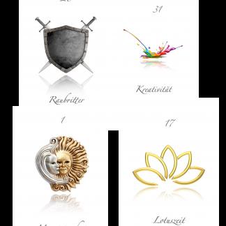 Das attraktive Kartenset der Lotuszeit für Ihre Selbstreflexion - Soulfit - Tina Wiegand