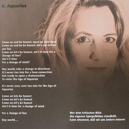 Aquarius -Vision of peace - Tina Wiegand - Soulfit - Cover